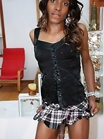 Ebony Tranny Heaven is exactly what her name implies! She\'s a new girl to the industry and eager to perform. She has a fat, juicy cock and is qu
